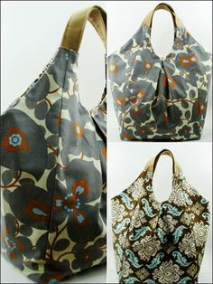 Shoulder Bag Sewing Pattern Download from e-PatternsCentral.com -- An easy pattern recommended for beginners, this bag is also a quick project which will only take about 2-3 hours to finish!