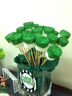 The ever-green and most popular boys party theme. You child can never be too young or too old to have a Soccer party. Here's a sneak peak of some party decorations we put up for the lil socceroo's birthday. Soccer Birthday Parties, Football Birthday, Sports Birthday, Soccer Party, Soccer Banquet, 10th Birthday, Soccer Birthday Cakes, Soccer Cake, Soccer Baby Showers