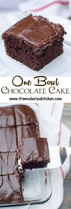 Nearly as easy to make as a boxed mix! This tried and true recipe is perfect for… Nearly as easy to make as a boxed mix! This tried and true recipe is perfect for satisfying those intense chocolate cravings. Easy Desserts, Delicious Desserts, Yummy Food, Food Cakes, Cupcake Cakes, 12 Cupcakes, Perfect Chocolate Cake, Cake Chocolate, Chocolate Frosting