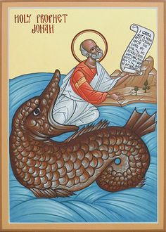 Holy Prophet Jonah by the hand of Matthew Garrett, 2011 The Prophet, Prophet Jonah, Byzantine Icons, Byzantine Art, La Résurrection Du Christ, Book Of Jonah, Joseph, Church Icon, Dibujo