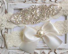 c55389980 Items similar to Bridal Garter Wedding Garter Set BLUSH Stretch Lace  Keepsake and Toss Garters