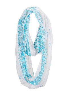 Bright ethnic print infinity scarf (original price, $14) available at #Maurices