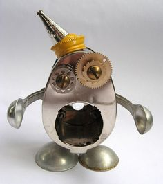 Steco - Robot Assemblage Sculpture by Brian Marshall by adopt-a-bot, via Flickr