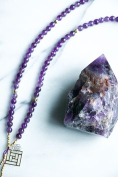 Amethyst is known to repel negative energy and attract positive energy, making it a wonderful protection stone for the home. Amethyst is said to attune its wearer with intuition, feelings and values. Natural Stress Relievers, Protection Stones, How To Make Beads, Semi Precious Gemstones, Stone Beads, How To Relieve Stress, Intuition, Amethyst, Beaded Necklace