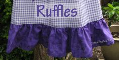How to sew RUFFLES tutorial...Nothing makes an outfit more girlie than ruffles!!! Find out how to add ruffles to a dress or skirt at ~ Threading My Way