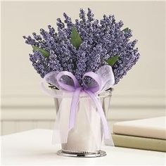 Flies don't like the smell of lavendar! What a beautiful pest control to keep the food safe!