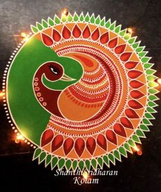 50 New Rangoli Designs (Rangoli Ideas) - October 2019 Rangoli Designs Peacock, Best Rangoli Design, Easy Rangoli Designs Diwali, Rangoli Simple, Indian Rangoli Designs, Rangoli Designs Latest, Simple Rangoli Designs Images, Free Hand Rangoli Design, Rangoli Border Designs