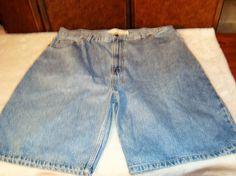 Arizona Jeans Loose Fit Sz 42 Men's Blue Denim 5 Pocket Shorts #ArizonaJeans #Denim