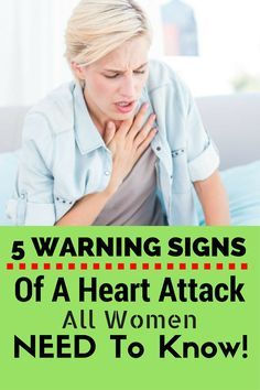 5 Warning Signs Of A Heart Attack All Women NEED To Know!