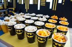 Batman birthday party - candy table