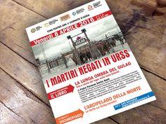 locandine e flyer eventi, martiri negati gulag, @centroCulturaleBen16