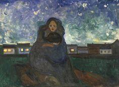 """Edvard Much. """"Bajo las estrellas"""", 1900-1905"""