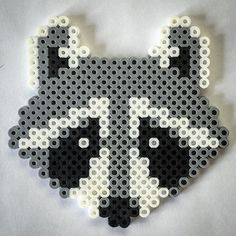Raccoon perler beads by rabidperler