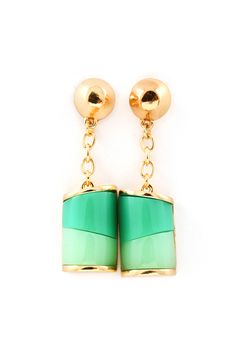 Shades of mint dangle earrings