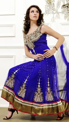 Glamorous Deep Blue Salwar Kameez