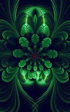 Feel good fractals Flower Wallpaper, Wallpaper Backgrounds, Black Backgrounds, Beautiful Flowers Wallpapers, New Media Art, Puzzle Art, Fantastic Art, Awesome, Forest Art
