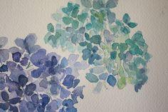hydrangea+watercolor+1.jpg (1600×1067) main bathroom inspiration print