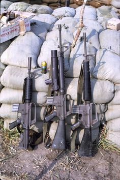 freetheshit-outofyou: XM177, M16A1 with XM148/CGL-4 Grenade Launcher, M16A1. Fixed length stock goodness