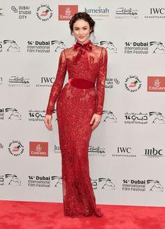 Olga Kurylenko in ELIE SAAB Haute Couture Autumn Winter 2017-18 at the Opening Night Gala of the 14th Annual Dubai Film Festival
