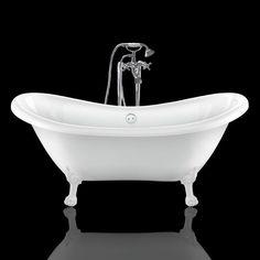 Bañera con patas de león DARLINGTON 175 cm, 6 opciones de colores de patas - Entorno Baño