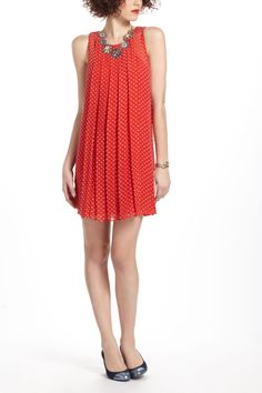 Just the right amount of twenties style :)     Flocked Speckle Dress - Anthropologie.com
