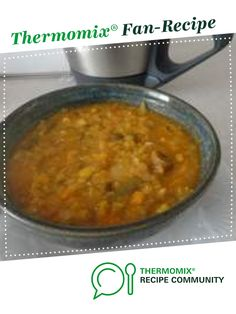Lentil & Vegetable soup by JudyD. A Thermomix <sup>®</sup> recipe in the category Soups on www.recipecommunity.com.au, the Thermomix <sup>®</sup> Community.