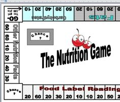 Nutrition Facts Board Game: Fun and Educational! Students play a game using Nutrition Facts-perfect for your unit test review, or just for fun! Cost-5.00