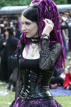 Goth Girl with Hair Extensions, via Flickr.