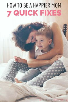 Want to be a happier mom? Use this cheat sheet of 7 quick fixes the next time you're about to lose your temper around your family. These science-backed happiness hacks will help you, your kids, and your husband, too!