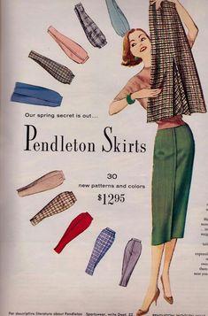 Vintage Fashion 1950s, Mode Vintage, Vintage Ladies, Vintage Style, Vintage Skirt, Vintage Dresses, Vintage Outfits, 1950s Dress Patterns, Clothing Patterns
