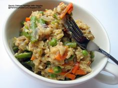 Savory Oatmeal Porridge With Veggies.. For when you want salty not sweet!!