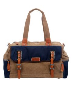 cd941043dd This Navy Mountain Wood Duffle is perfect!  zulilyfinds Wearable Art