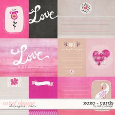 XOXO - Cards - by Red Ivy Design at Sweet Shoppe Designs