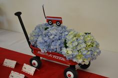 """Photo 1 of 30: Little Red Wagon Shower / Baby Shower/Sip & See """"Aden's Baby Shower"""" 
