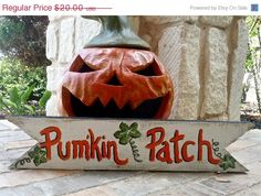 Save 15 Now  Rustic Fall Pumpkin Pumkin Patch Wooden by ArtSortof, $17.00