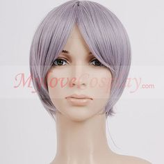 Short silver grey hetalia axis powers norway cosplay wig