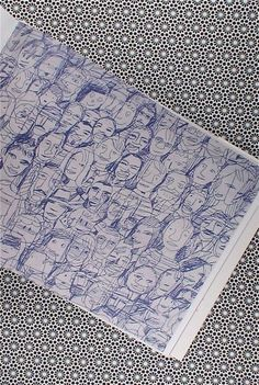 Mariscal sketches: Sketchbook with rough sketches of Spanish designer Mariscal