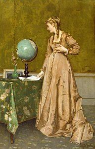 Melancholy Painting - News From Afar by Alfred Emile Stevens