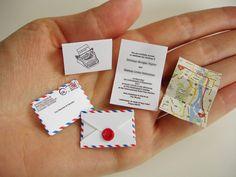 Amazing mini wedding invitations with a mini map! World's smallest post service