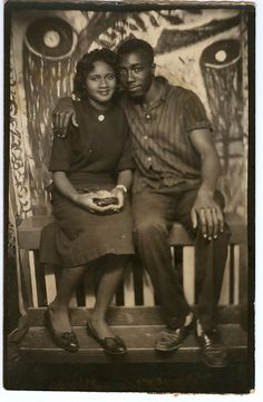 The Photo Booth II, 1930s. African American snapshot & vernacular photography. Daniel Corwin Collection