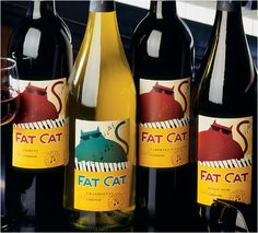 For all the cat lovers out there. I love this label. I had a cat that looked like this except he wasn't red : )