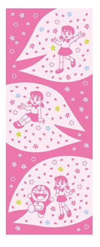 Japanese washcloth, Tenugui ドラえもん [しずかちゃん] Doraemon's character Shizuka-chan