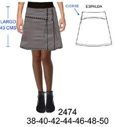 30da0f95fc Resultado de imagen de falda con canesu y tablas
