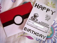 Custom Handdrawn Pokemon Battle Birthday Card on Etsy, $2.88