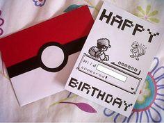 Custom Handdrawn Pokemon Battle Birthday Card on Etsy, $2.88