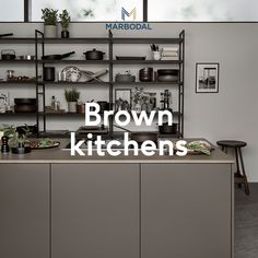 Nordic Kitchen, Scandinavian Kitchen, New Kitchen, Brown Kitchens, Cool Kitchens, Kitchen Interior, Kitchen Design, Tiny House Loft, Brown Interior