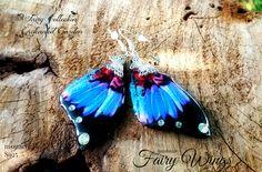Orecchini Ali di Fata S925 farfalla rosso nero blu , by Evangela Fairy Jewelry, 16,00 € su misshobby.com
