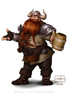 Party of 2 f Halfling Ranger Battle Axe Sling m Dwarf Fighter Armor Helm drinking tavern urban city farmland mountains forest hills docks water -- Share via Artstation iOS App, Artstation © 2016 Character Model Sheet, Fantasy Character Design, Character Concept, Character Inspiration, Character Art, Viking Men, Viking Warrior, Dungeons And Dragons Characters, Fantasy Characters