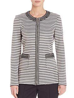 St. John - Striped Knit Jacket