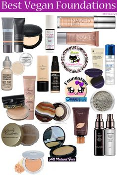 Best #Vegan Foundations by @Phyrra - can you guess which #CoverFX foundations are featured? :)